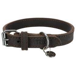 TRIXIE Hunde-Halsband Rustic Fettleder, Leder 1 cm x 34 cm