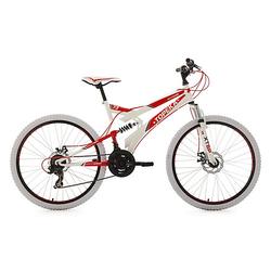 26 Fully Mountainbike 21 Gänge Topeka Mountainbikes Rahmenhöhe: 44 cm rot/weiß
