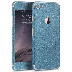Glitzerfolie für iPhone 8 - Blau