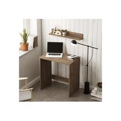 Yurupa Schreibtisch Schreibtisch,Computertisch,Schreibtisch mit Wandregal,Gaming Pc Tisch,Arbeitstisch,Bürotisch