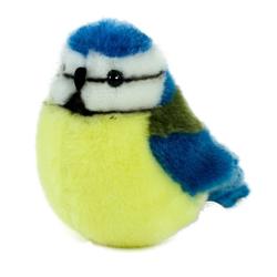 Kösen Kuscheltier Blaumeise Pit 14 cm (Stoffvogel Plüschvogel Meisen Plüschtiere Stofftiere, Stoffblaumeise Plüschblaumeise)