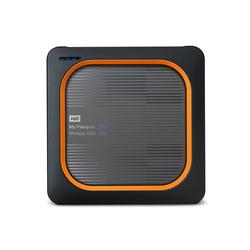 WD My Passport Wireless SSD SD-Karten-Backup auf Knopfdruck grau 500 GB