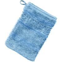 Waschhandschuh 1001 ¦ blau ¦ 100% Baumwolle