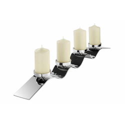 Fink Kerzenständer WAVE, aufwendige Handarbeit, für 4 Kerzen 105 cm x 9 cm x 10 cm