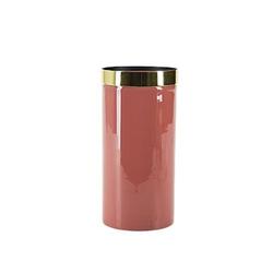 Bahne & Co Vase mit Goldrand Rosa 20x10 cm