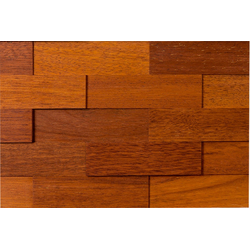 WODEWA Set: Verkleidungspaneel Wodewa 200 - Merbau, 3D-Effekt, 1 m² rot