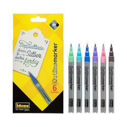 Idena Filzstift Outline Marker- Magische Stifte, 6 Farben