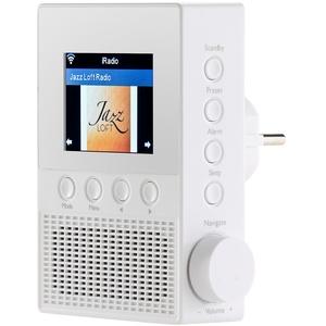 VR-Radio Steckdosenradio: Steckdosen-Internetradio IRS-300 mit WLAN, 6,1-cm-Display, 6 Watt (Steckdosen Radio WLAN)