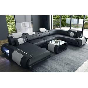 Sofa Dreams Wohnlandschaft Rimini, U Form schwarz