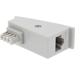 InLine® TAE-F DSL Adapter, TAE-F Stecker auf RJ45 Buchse, 8P2C für Fritzbox