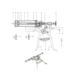 Ersatzteile Roux-Revolver »HSW« Nr 1 - 52, Dichtung, Kolben, Griff