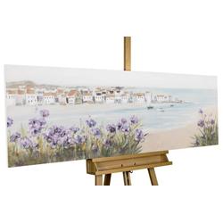 KUNSTLOFT Gemälde Mediterraner Traum, handgemaltes Bild auf Leinwand
