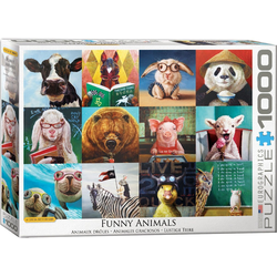 empireposter Puzzle Lucia Heffernan - Lustige Tiere - 1000 Teile Puzzle im Format 68x48 cm, 1000 Puzzleteile