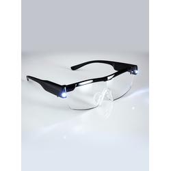 Avena Herren LED-Vergrößerungsbrille Schwarz 1