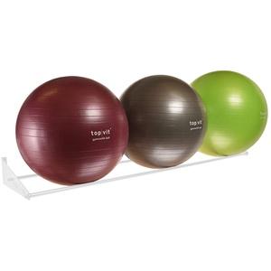 top | vit® Ball.wandhalter - Wandhalterung für bis zu 3 Gymnastikbälle (weiß)