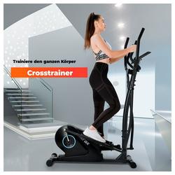 Vaxiuja Crosstrainer Crosstrainer Ellipsentrainer mit LCD-Display und Geräteständer, tragbarer Ellipsentrainer für Heimübungen mit 8 Stufen Widerstand