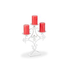 relaxdays Kerzenständer Kerzenständer dreiarmig goldfarben