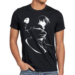 style3 Print-Shirt Herren T-Shirt Hei Maske darker than black anime japan L