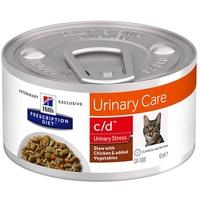 Hill's Prescription Diet Feline c/d Urinary Stress Ragout mit Huhn & zugefügtem Gemüse 82 g