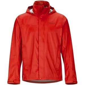 Marmot Men's PreCip Eco Jacket, Waterproof Jacket, Lightweight Hooded Rain Jacket, Windproof Raincoat, Breathable Windbreaker, Ideal for Running and Hiking, Victory Red, XL