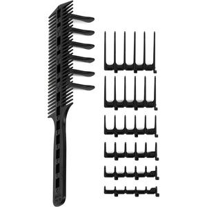 Original CombPal haarschneidekamm, Scherenschneider über Kamm Haarschneidewerkzeug, haare schneiden hilfe Haarschneideset, Barber Haircutting Comb Set (Schwarz)