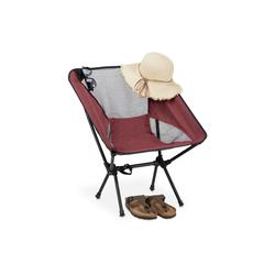 relaxdays Campingstuhl Campingstuhl ultraleicht rot