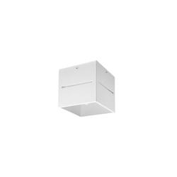 Licht-Erlebnisse Strahler LORUM Aufbaustrahler Weiß Aluminium H:10cm Bauhaus Spot Wohnzimmer Flur (1-St)