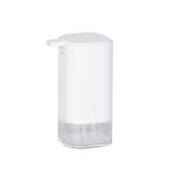 WENKO Oria Seifenspender, Moderner Seifendosierer aus hochwertigem Acryl, Farbe: weiß