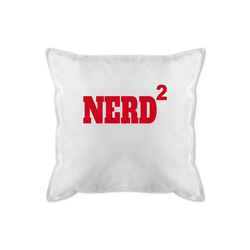 Shirtracer Dekokissen Nerd Hoch 2 rot - Nerds & Geeks - Bedrucktes Kissen mit Füllung - Kissen, nerd kissen
