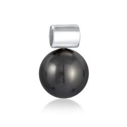 Nenalina Kettenanhänger Perle Kristallperlen 925 Silber schwarz