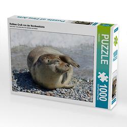 Robben Gruß von der Nordseeküste Lege-Größe 64 x 48 cm Foto-Puzzle Bild von Kattobello Puzzle