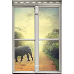 queence Wandsticker Elefant