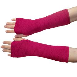 Posh Gear Armstulpen Alpaka Handstulpen 100% Alpakawolle rot