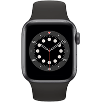 Apple Watch Series 6 GPS + Cellular 40 mm Aluminiumgehäuse space grau, Sportarmband schwarz
