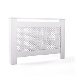 Vicco Verkleidungspaneel Heizkörperverkleidung Landhaus Heizungsverkleidung Weiß Waben 112 cm