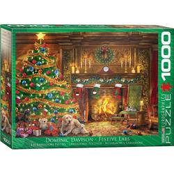 empireposter Puzzle Dominic Davison - Festliche Weihnachten mit Labradors - 1000 Teile Puzzle im Format 68x48 cm, 1000 Puzzleteile