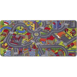 Andiamo Kinderteppich Straße, rechteckig, 5 mm Höhe, Straßen-Spielteppich, Straßenbreite: 8,5 cm, Kinderzimmer bunt Kinder Bunte Kinderteppiche Teppiche