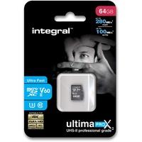 Integral microSDXC UltimaPro X2 64GB Class 10 UHS-II V60