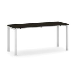 Tisch mit schwimmholzplatte, wenge 1600 x 600