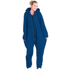 Jumpsuit aus flauschigem Fleece, blau, Größe L