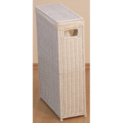 Wäschekorb (1 Stück), für schmale Nischen geeignet, nur 16 cm breit weiß