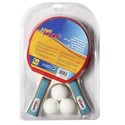 NSP Tischtennis Set, 2 Schläger+3 Bäll