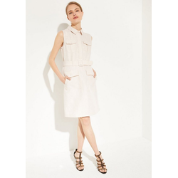 Comma Minikleid Elegantes Kleid aus Leinen-Mix 42