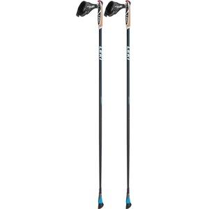 LEKI Unisex-Adult Sports Skistock, Black/White/Cyan, 115CM