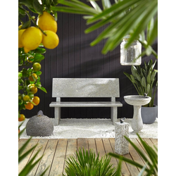 Dehner Gartenbank Gartenbank, 2-Sitzer, 120 x 50 x 75 cm, Granit