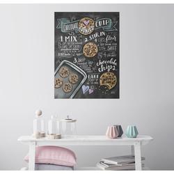 Posterlounge Wandbild, Chocolate-Chips-Kekse Rezept (Englisch) 50 cm x 70 cm
