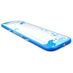 COSTWAY Gymnastikmatte 300 x 100 cm Air Track, Yogamatte blau 100 cm x 300 cm x 10 cm