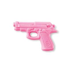 Seife in Pistolenform - rose - mit Rosenduft