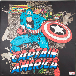 MARVEL Leinwandbild Captain Amercia, (1 Stück)