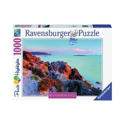 Ravensburger Puzzle Puzzle Mediterranean Greece, 1.000 Teile, Puzzleteile